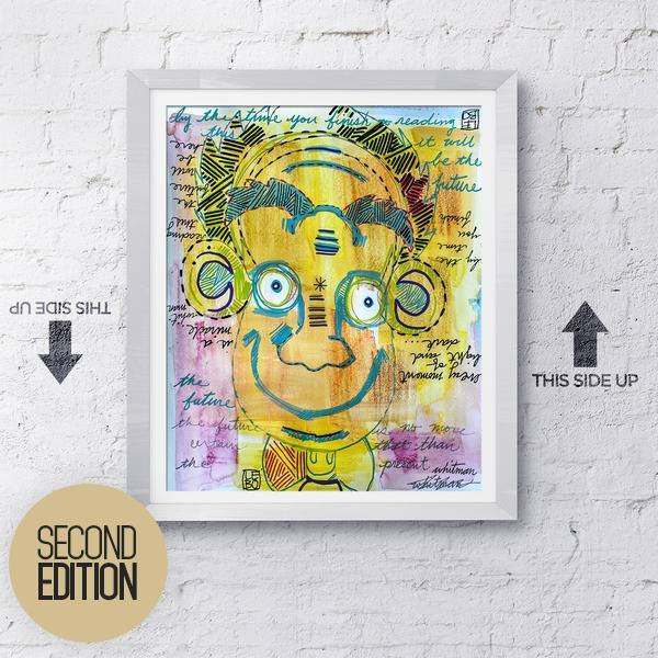 Upside Down and Right Side Up - Second Edition - Vault Released Sketchbook Print