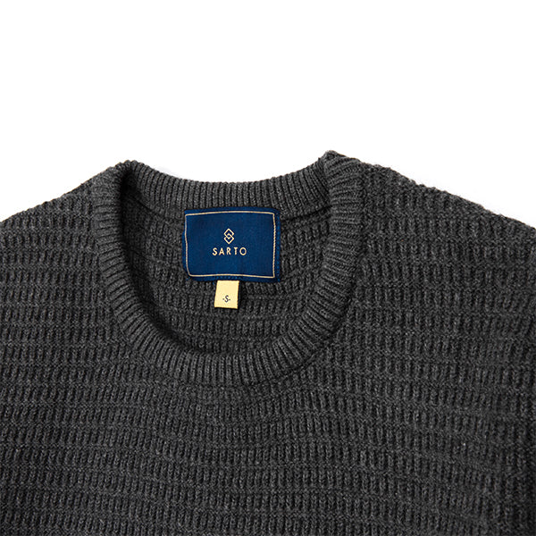 Sarto Avner dark melange long sleeve sweater