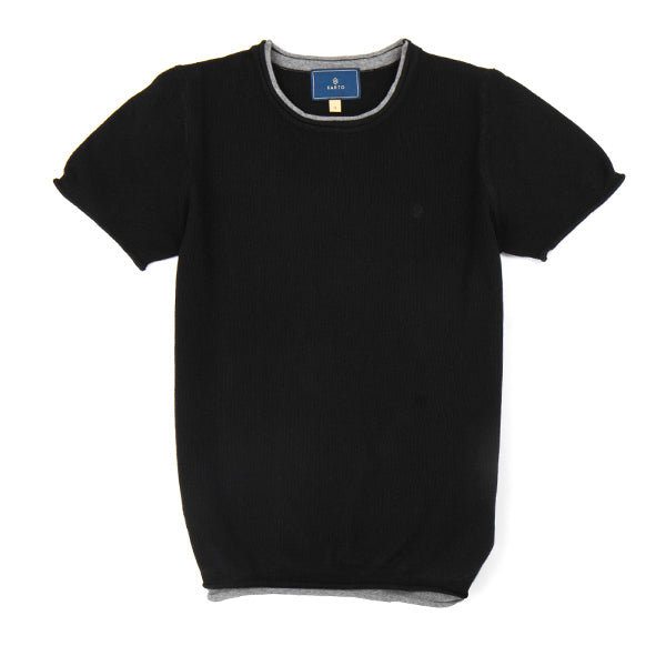 Sarto Avner black short sleeve fashion knit top