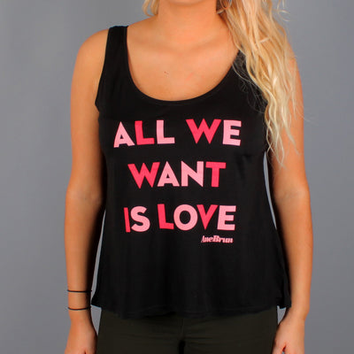 All We Want Tank Top Black