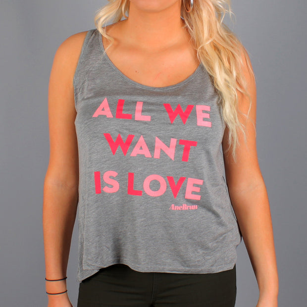 All We Want Tank Top Grey
