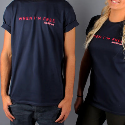 When I'm Free T-Shirt Navy