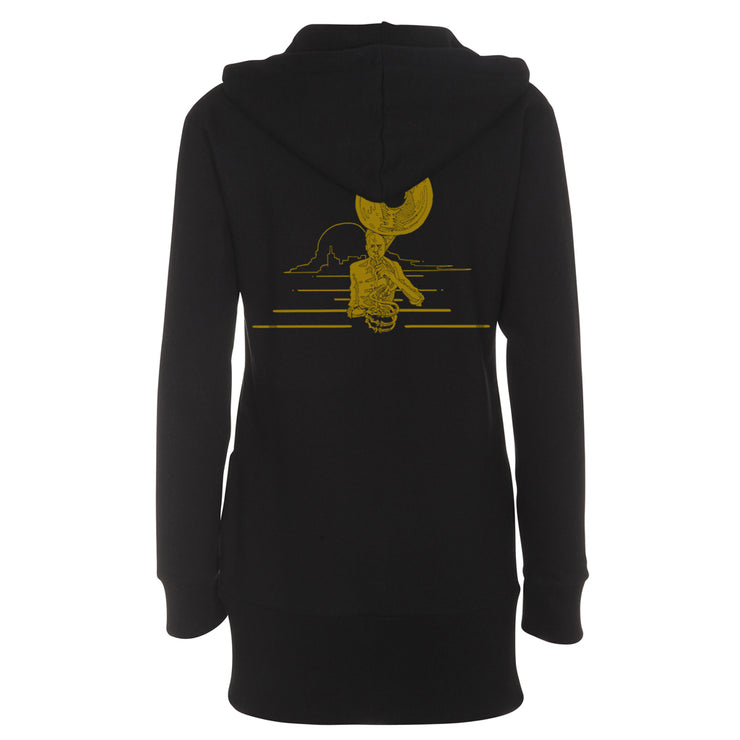 Black/Gold Zip Hoodie - Girl