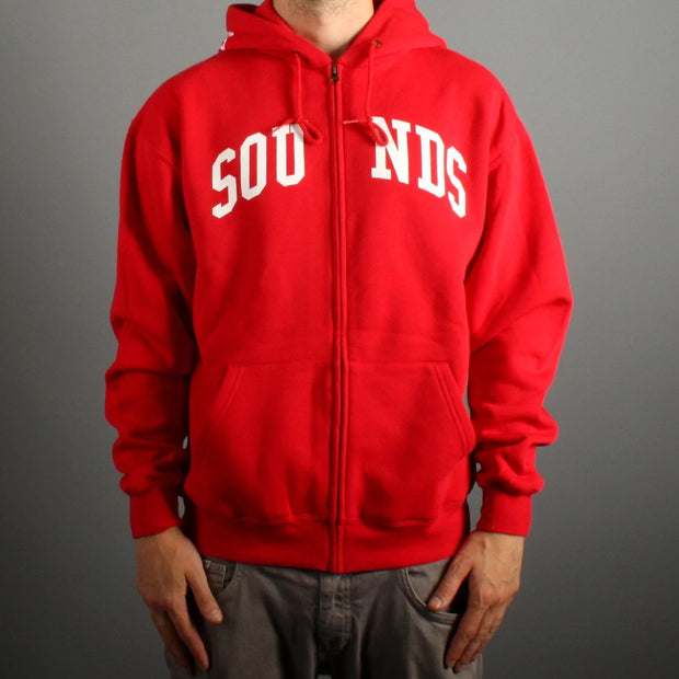 Sounds Zip Hood Red