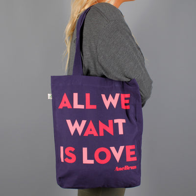 All We Want Tote Purple