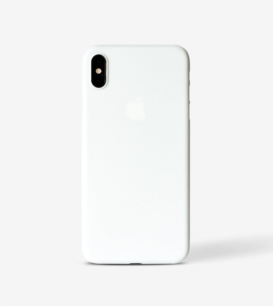 chimpcase iPhone X-S MAX Skinny Case - solid white