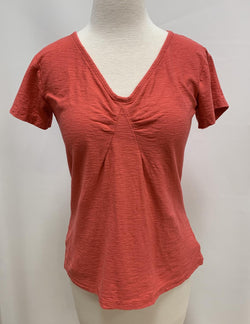 Coral Tuck Tee