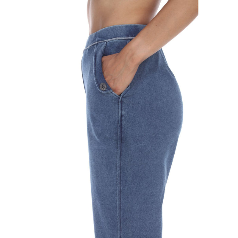 Denim Knit Capri