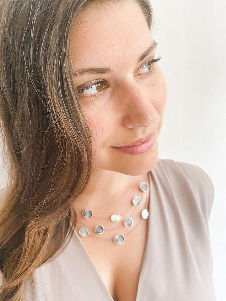 Silver/Gunmetal Float Necklace