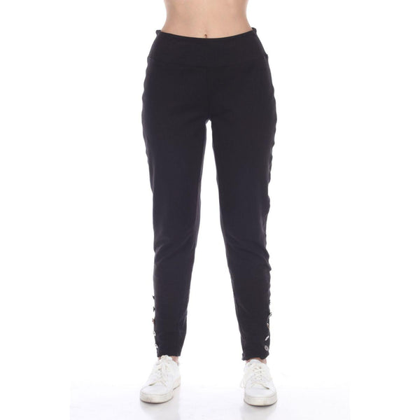 Black Button Pant