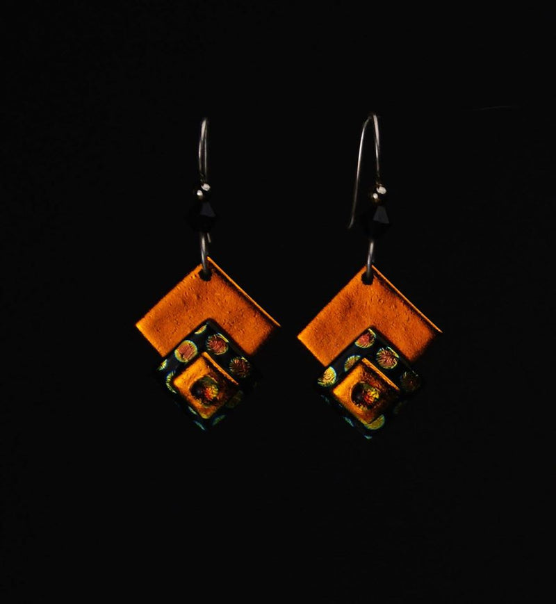 Electric Amber Earring