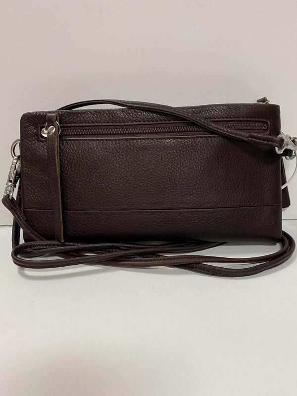Espresso Leather Phone Wallet Bag