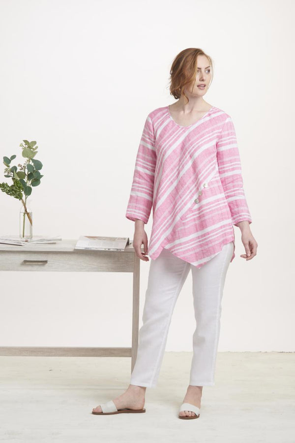 Sherbet Mix Linen Tunic