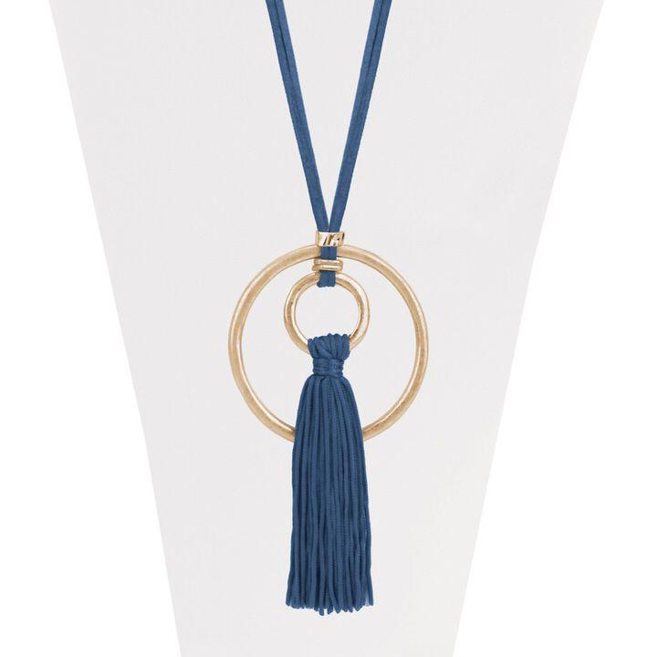 Evergreen Brass Tassel Necklace