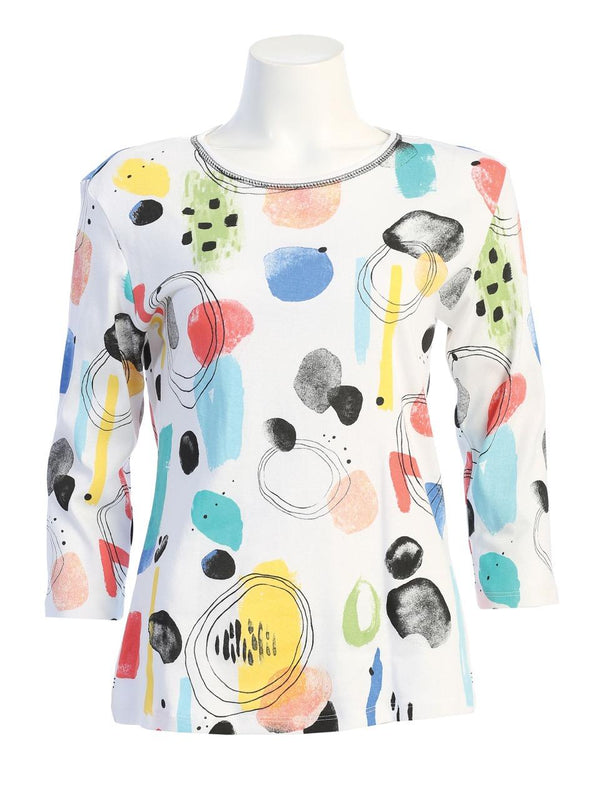 """Bubbly"" Abstract Print Top"