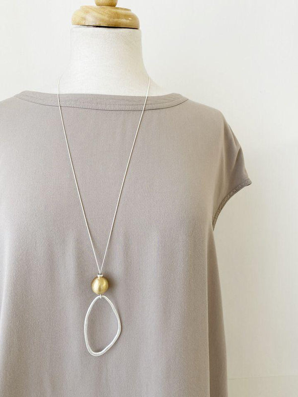 Matte Mixed Loop Necklace