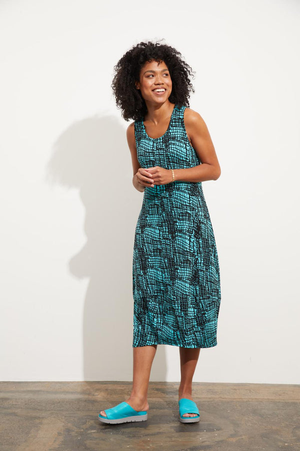 Water Mosaic Lantern Dress