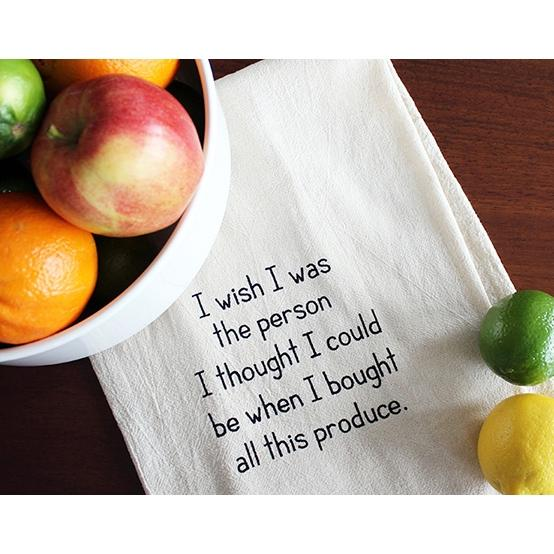 I Wish...Produce Tea Towel