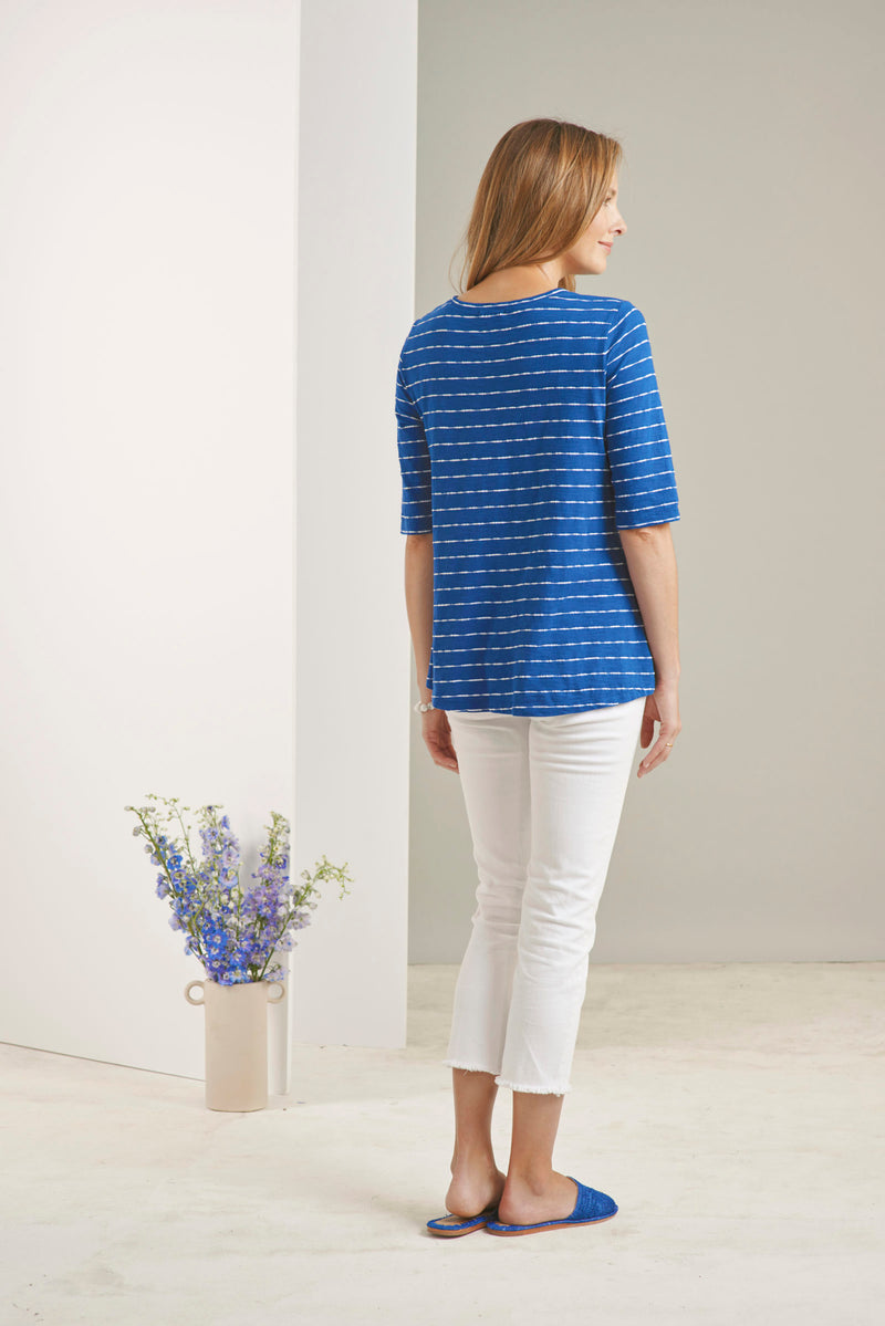 Blue Moon Stripe Top