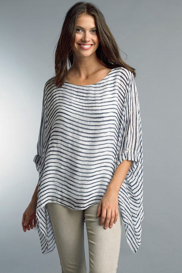 Silk Poncho Top