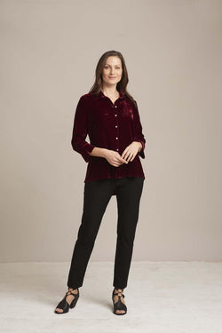 Velvet Cabernet Button Down Shirt