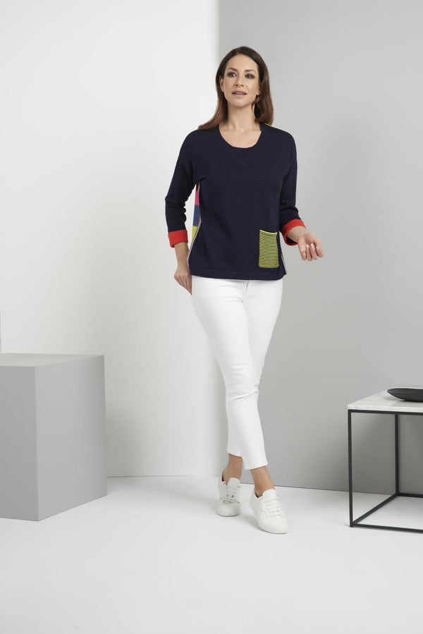 Sage Colorblock Sweater
