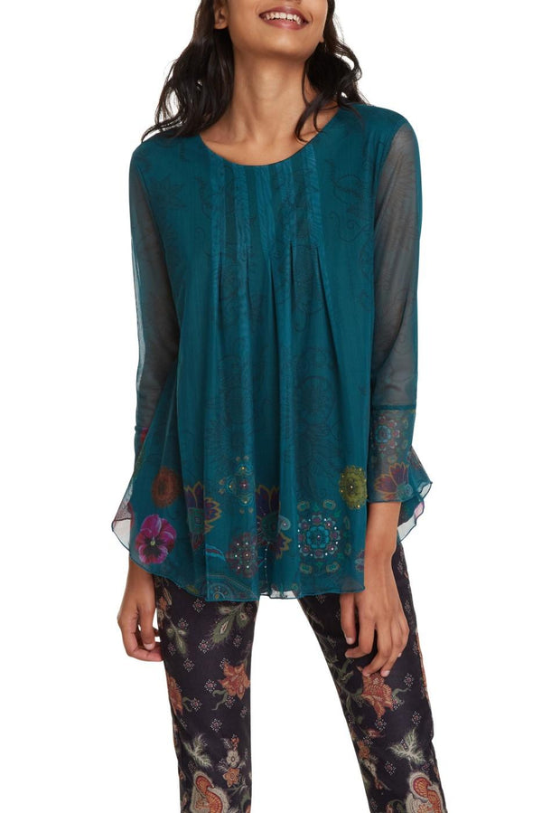 Lucianda Long Sleeve Floral Shirt