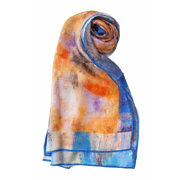 Abstract Clouds Silk Scarf