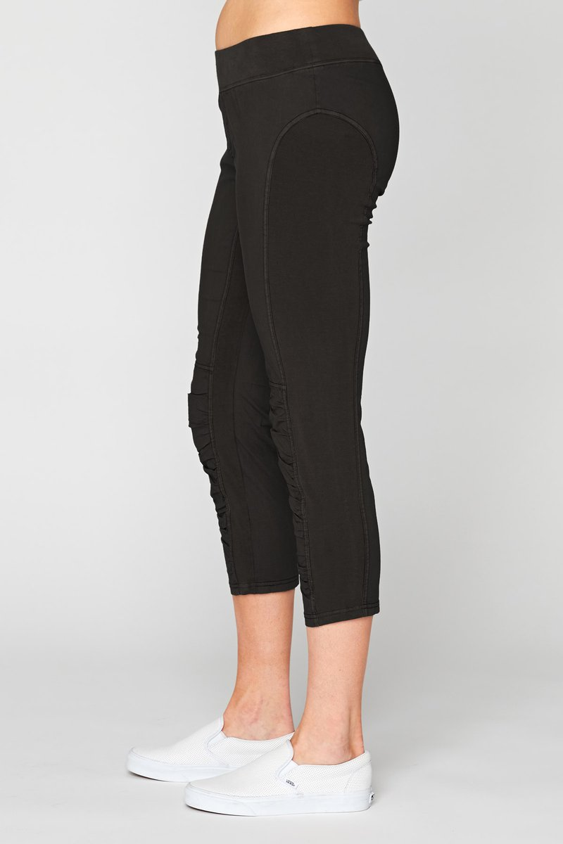 Black Rucsh Legging Pant