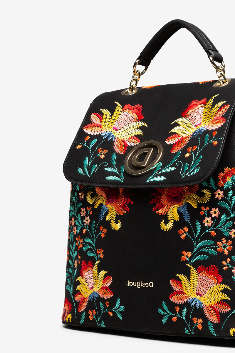 Embroidered Floral Backpack