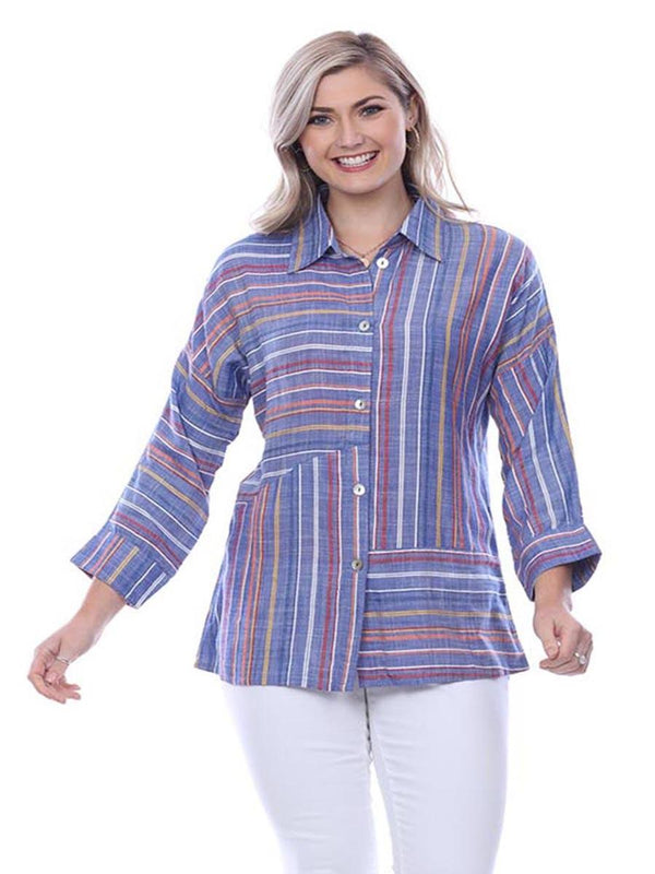 Denim Mix Stripe Shirt