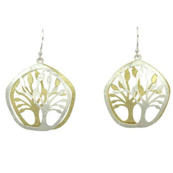 Two Tone Trees Earring