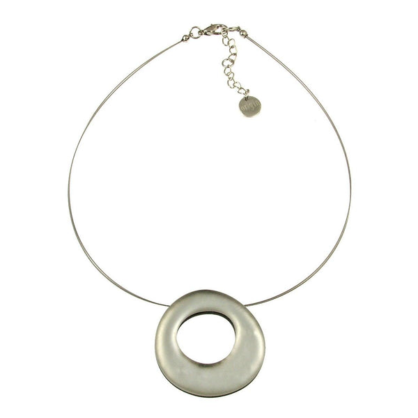 White Hollow Necklace