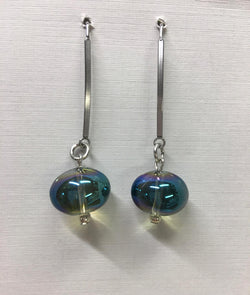 Glass Ball Green Dangle