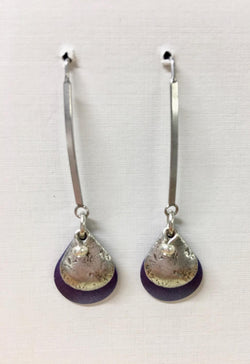 Double Teardrop Violet Shell Long