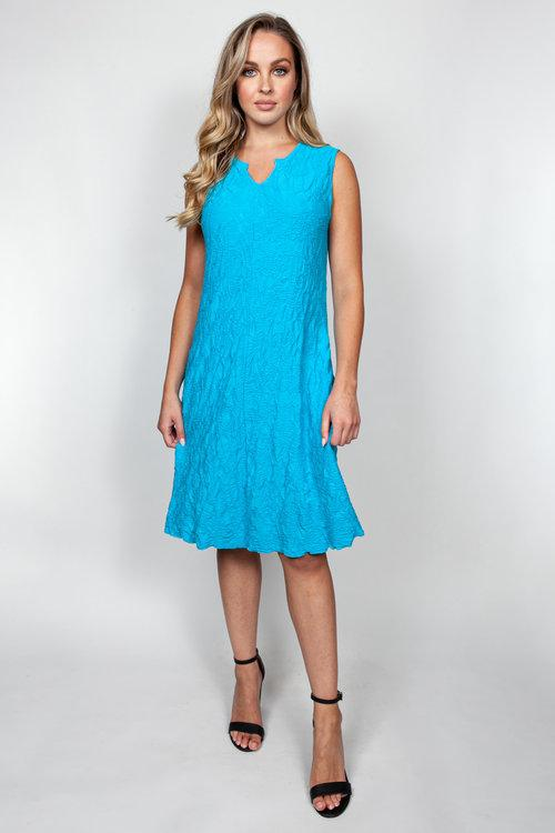Turquoise Textured Dress