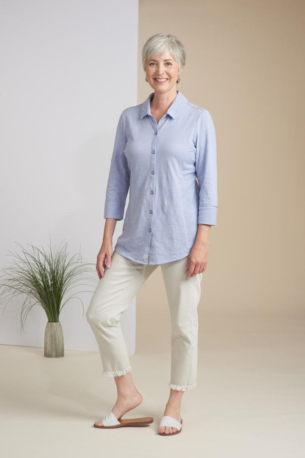 Fog Cotton Button Down