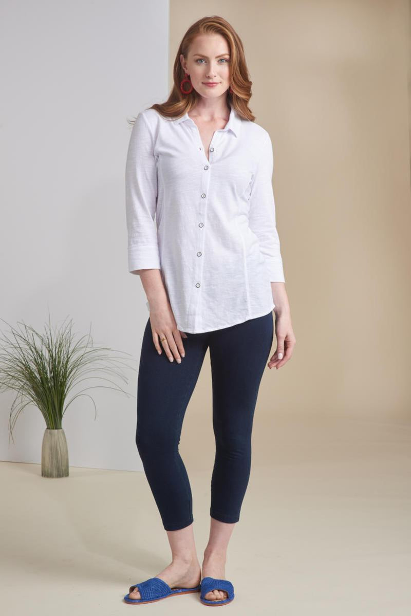 White Cotton Button Down