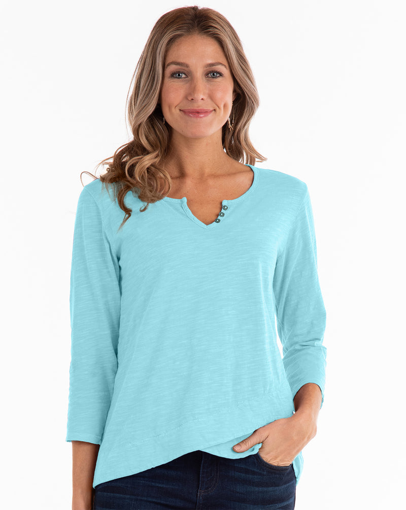 Aqua Cotton Top