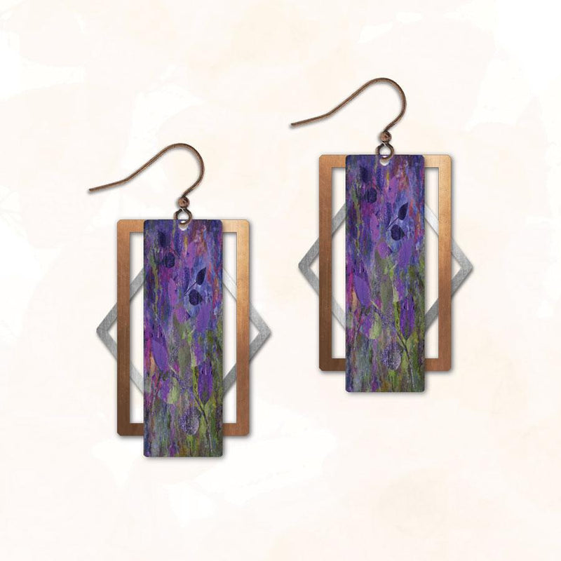 Lavender Field Triple Earring