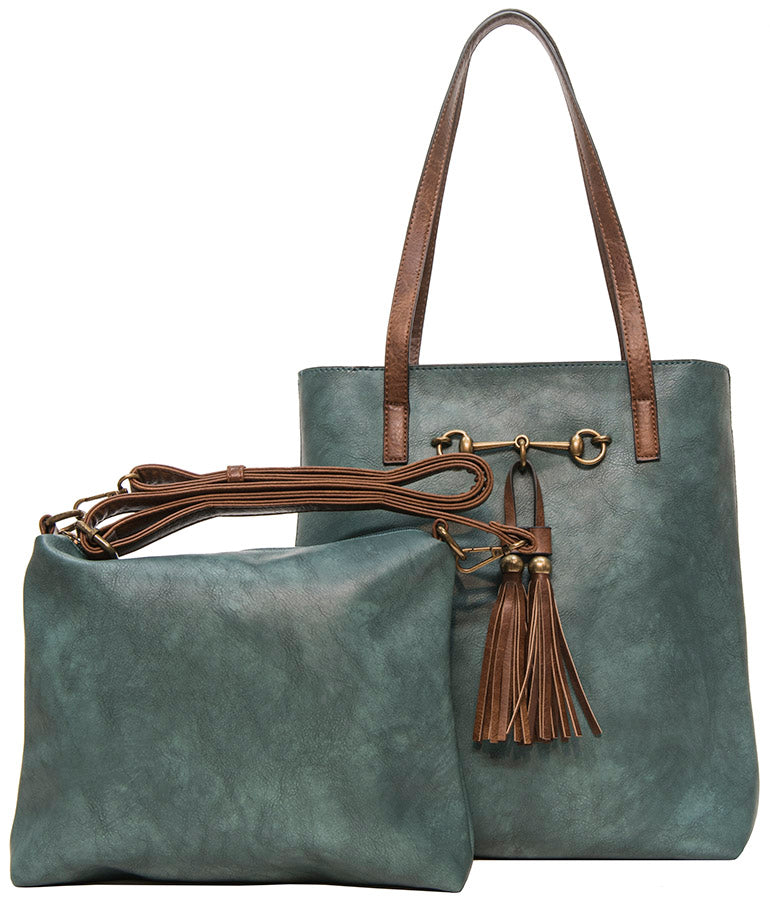 Teal 2 in 1 Tote