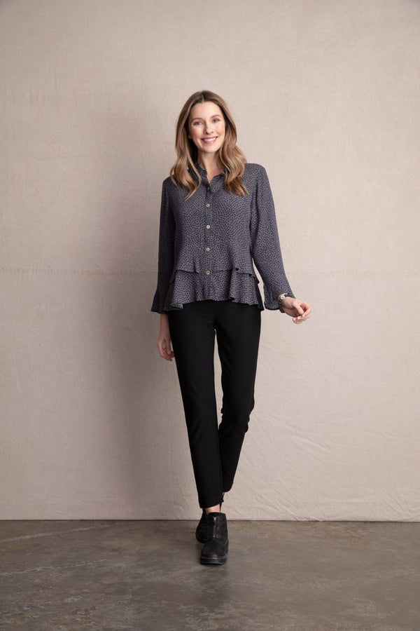 Grey Dot Blouse