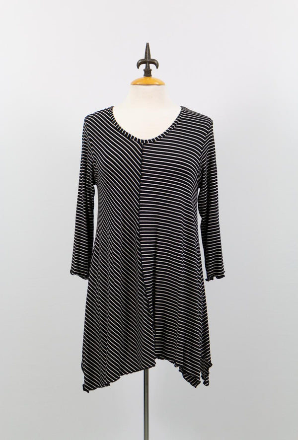 Mix Stripes Lycra Tunic