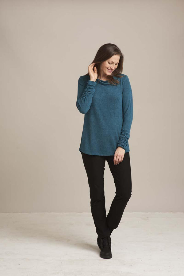 Lofty Teal Fleece Top