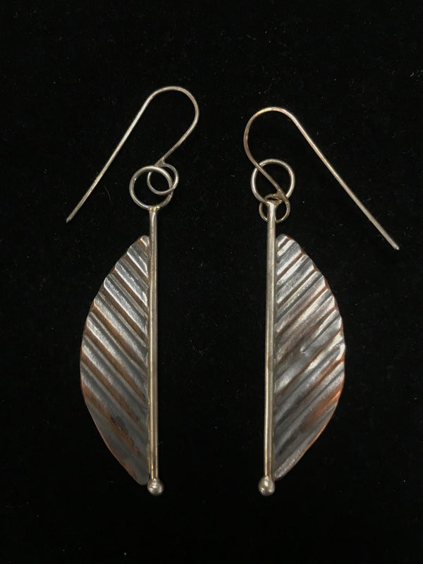 Skeletal Leaf Earring