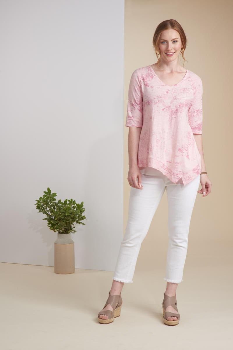 Blush Splash Asym Tee