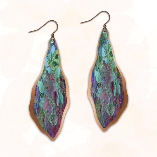 Copper Leaves Earring