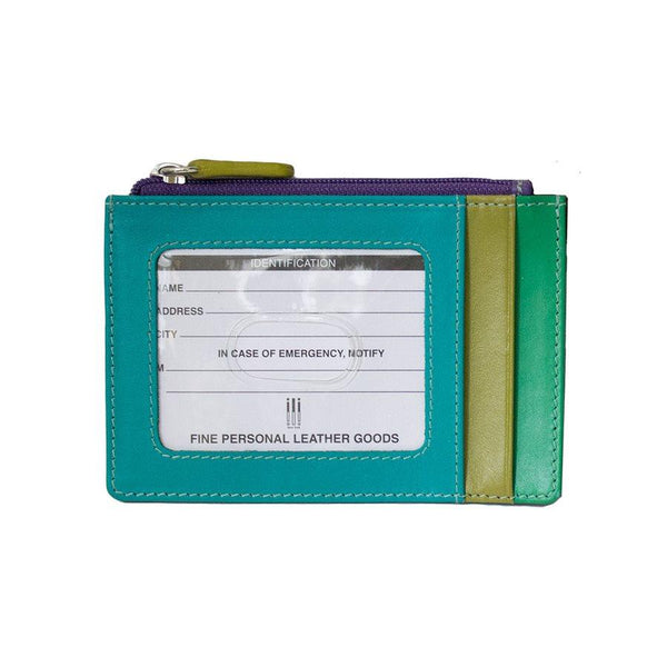 Cool Tropic Leather Credit Card Holder
