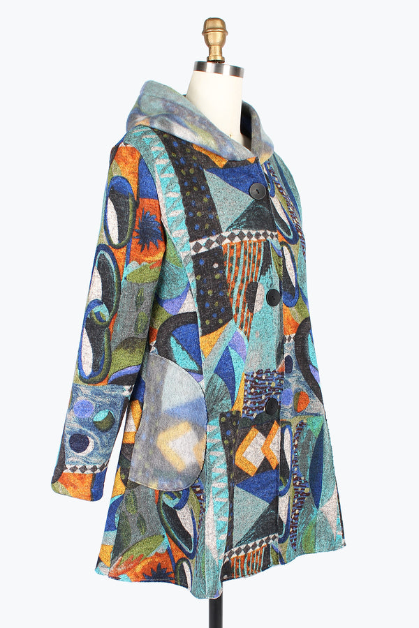 Vintage Abstract Hooded Jacket