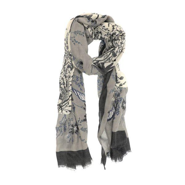 Gray Spring Ahead Scarf